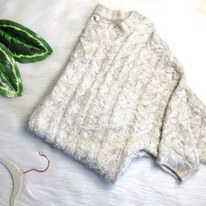 URBAN OUTFITTERS Cream Cable Knit Chunky Sweater